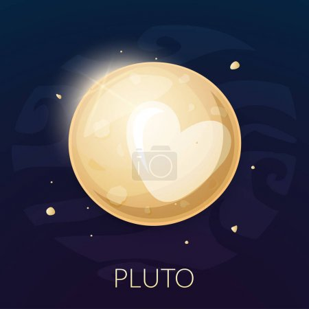 Illustration for The planet Pluto icon, vector illustration isolated on background - Royalty Free Image