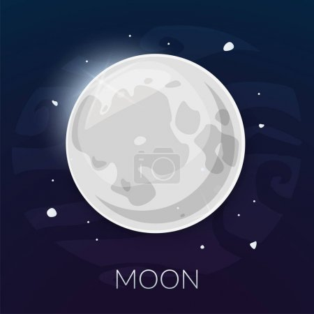 Illustration for Moon satellite icon vector illustration isolated on background - Royalty Free Image