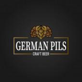 premium german pils pilsener craft beer lable web badge icon
