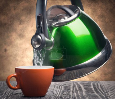 green Teapot and cup
