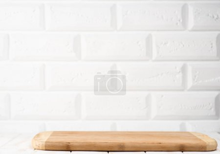 table with a cutting board