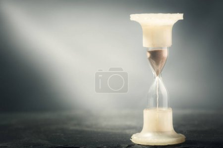 one  Hourglass on table