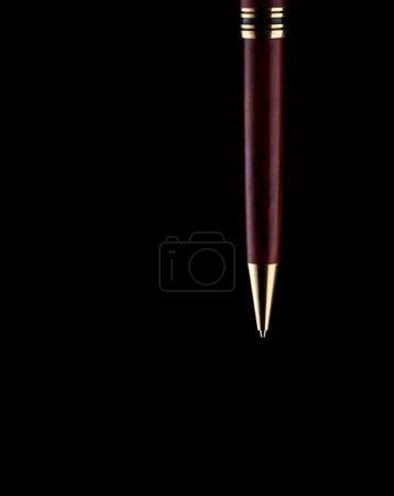 Pen on black background