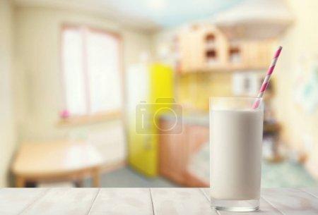 Milk on the kitchen table