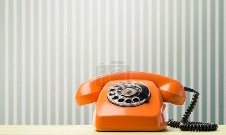Retro phone on desk