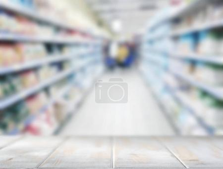 Shelf in the supermarket
