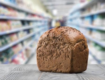 Rye bread on shelf