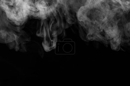 Texture of smoke on a black background