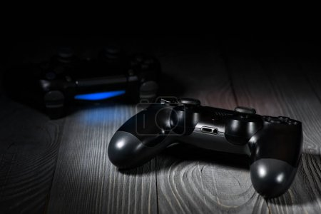 Photo for New black Gamepads, close up - Royalty Free Image