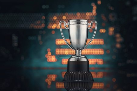 The concept of virtual sports. Championship of video games. Cup