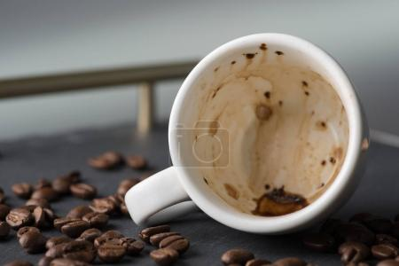 Photo for Empty cup from coffee, close up - Royalty Free Image