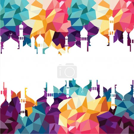 silhouettes of islam mosques