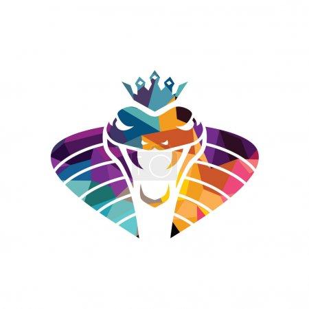 Illustration pour Logo stylisé d'entreprise de serpent, illustration vectorielle - image libre de droit