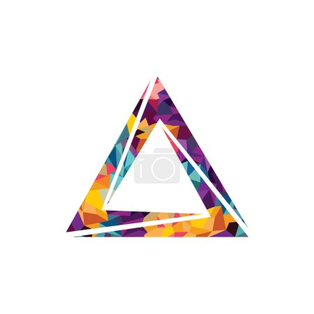 Illustration for Simple triangular logo, vector illustration - Royalty Free Image