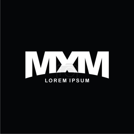 letters MXM logo icon template