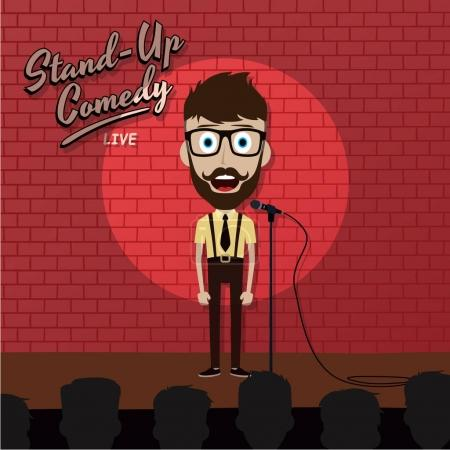 Illustration for Stand up show concept vector illustration - Royalty Free Image