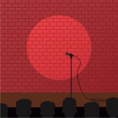 Stand up show concept vector illustration
