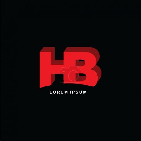 Joined letters HB logo icon