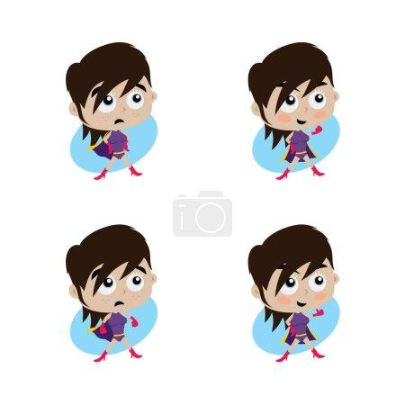 cartoon superhero woman