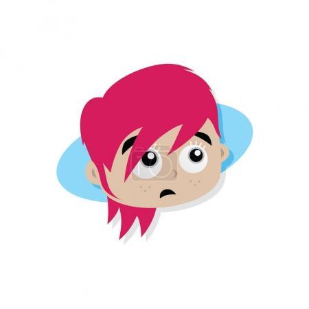 cartoon superhero woman face