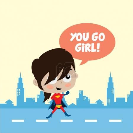 cartoon superhero girl