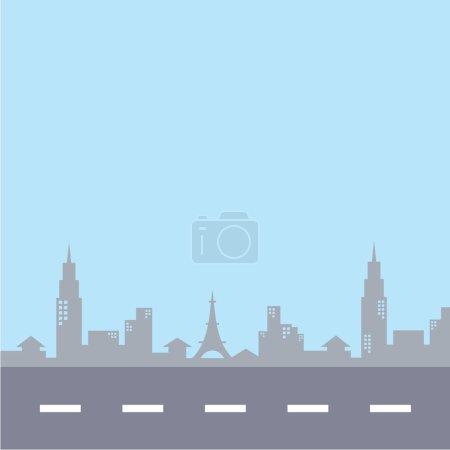 Paris cityscape illustration
