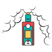 Electric vaporizer with vape cloud
