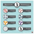Microscopic Haematology . Medical sticky note styl...