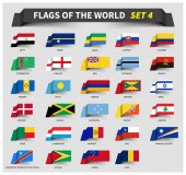 All flags of the world set 4  Waving ribbon style