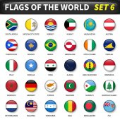 All flags of the world set 6  Circle and convex design