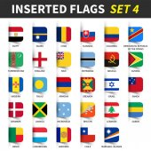 All flags of the world set 4  Inserted and floating sticky note design  ( 4/8 )