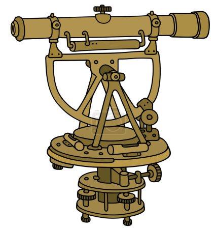 Historical brass theodolite