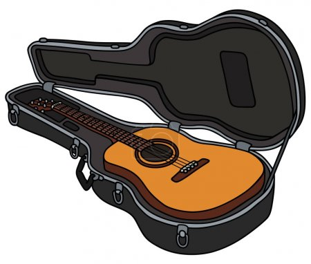The classic accoustic guitar in a hard case