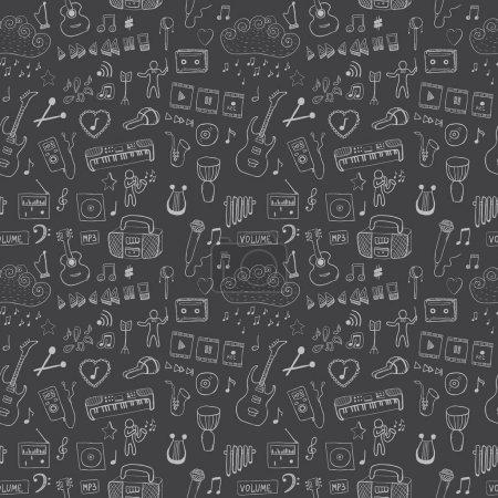 Seamless pattern of music symbols