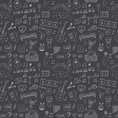 Seamless pattern of music symbols