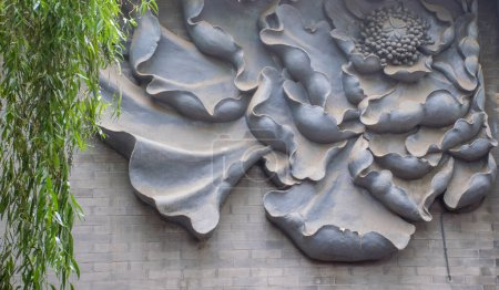 Photo pour Gros plan sur l'architecture traditionnelle chinoise détails, concept de voyage - image libre de droit