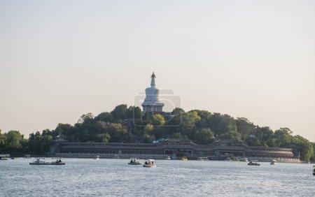 Photo pour Vue lointaine de l'architecture traditionnelle chinoise de jour, concept de voyage - image libre de droit