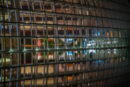 Photo pour Vue du Grand Théâtre national de Chine de Pékin comme arrière-plan - image libre de droit