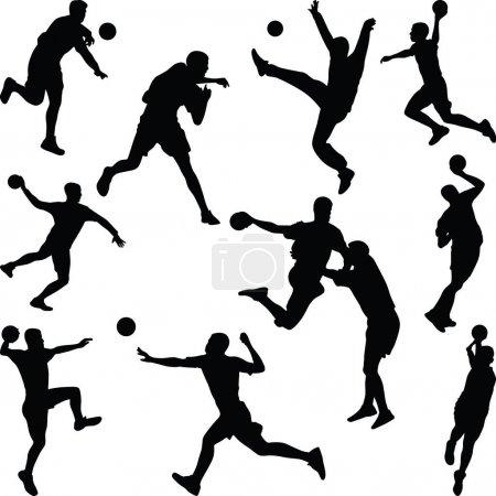 handball player silhouette