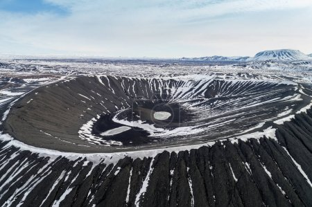 Photo for Aerial view of Hverfjall Crater, Myvatn, Iceland - Royalty Free Image