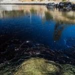 Salamina, Athens, Greece - Sept 13, 2017:Oil, leak...