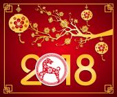 Happy  new year 2018 year of the dog Chinese New Year  Lunar new year