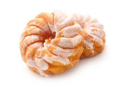 Photo for Close-up shot of French Crullers Isolated On White - Royalty Free Image