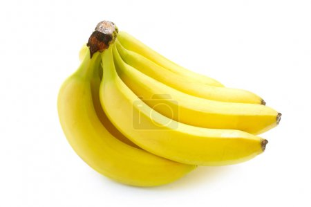 Photo for Close-up shot of Bunch Of Bananas Isolated On White - Royalty Free Image