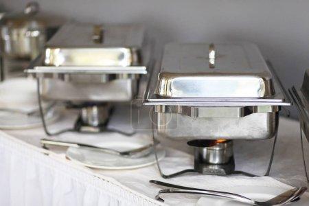 Photo pour Gros plan de la cuisine moderne au restaurant - image libre de droit