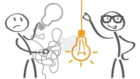 Illustration pour Gardez-le concept d'affaires simple pour le marketing, la créativité, la gestion de projet. Illustration vectorielle - image libre de droit