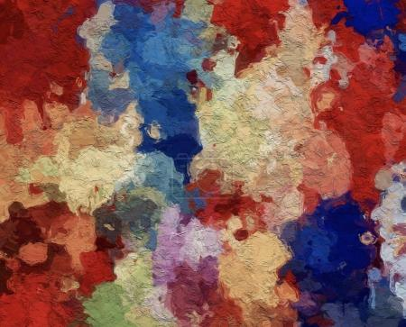 Photo for Abstract art background. Digital painting. Color texture. Fragment of artwork. Spots of oil paint. Brushstrokes of paint. Modern art. Contemporary art. Colorful canvas. - Royalty Free Image