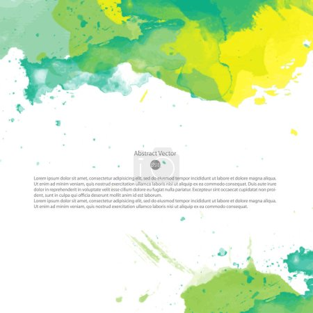 bright colorful banner with watercolor splashes