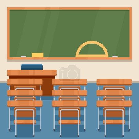 Illustration pour École classe vecteur plat illustration . - image libre de droit