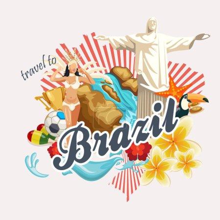 Vector travel poster of Brazil